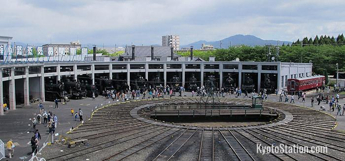 Una vista sulla piattaforma dal secondo piano dell'edificio principale