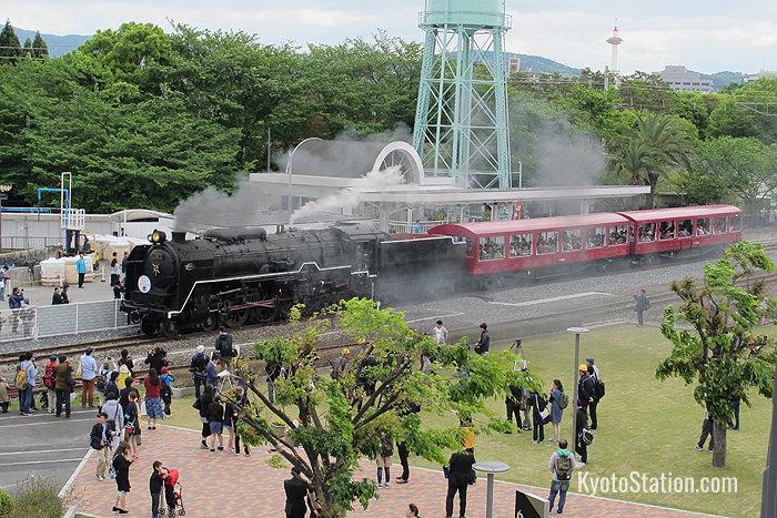 Il treno a vapore dell museo ferroviario di Kyoto