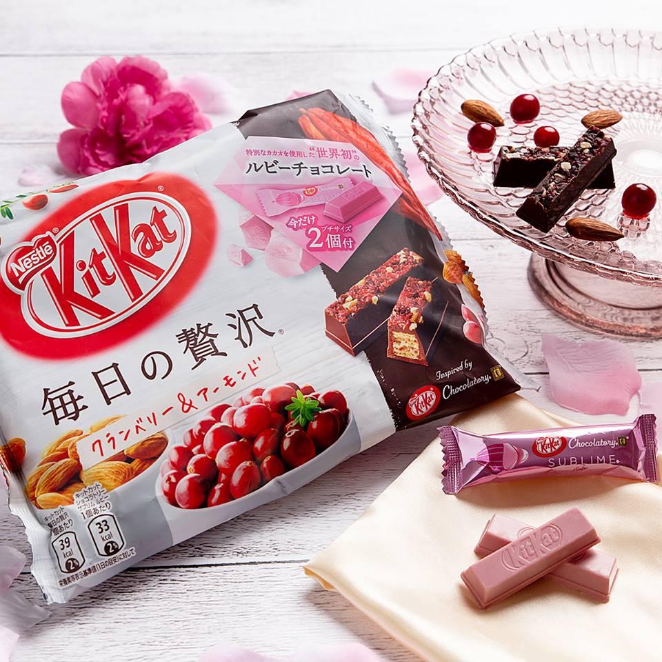 kitkat rosa al cioccolato ruby rose