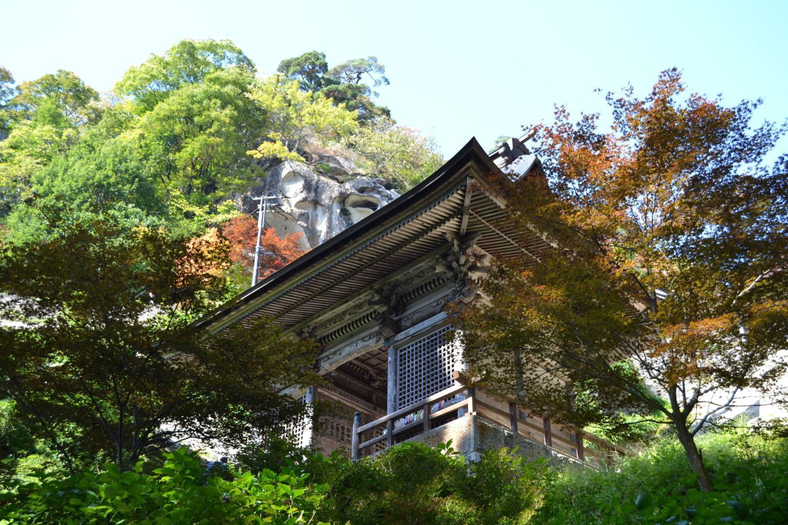 niomon yamadera yamagata autunno tempio