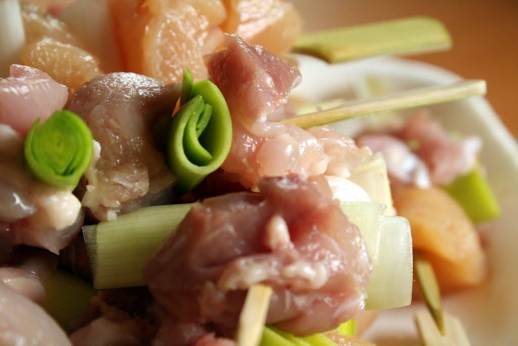 yakitori pollo ricetta griglia