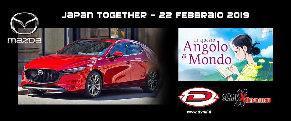 """JAPAN TOGETHER"" #rebirthnight - Serata anime e All New Mazda 3 2019 @ CALCINATE (BERGAMO)"