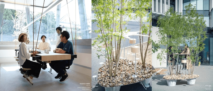 Team Balanco Jukai Barbara Crimella – Swinging furniture Fuorisalone it