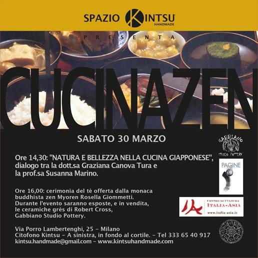 """LA CUCINA ZEN """"NATURA E BELLEZZA NELLA CUCINA GIAPPONESE"""" @ Milano"""
