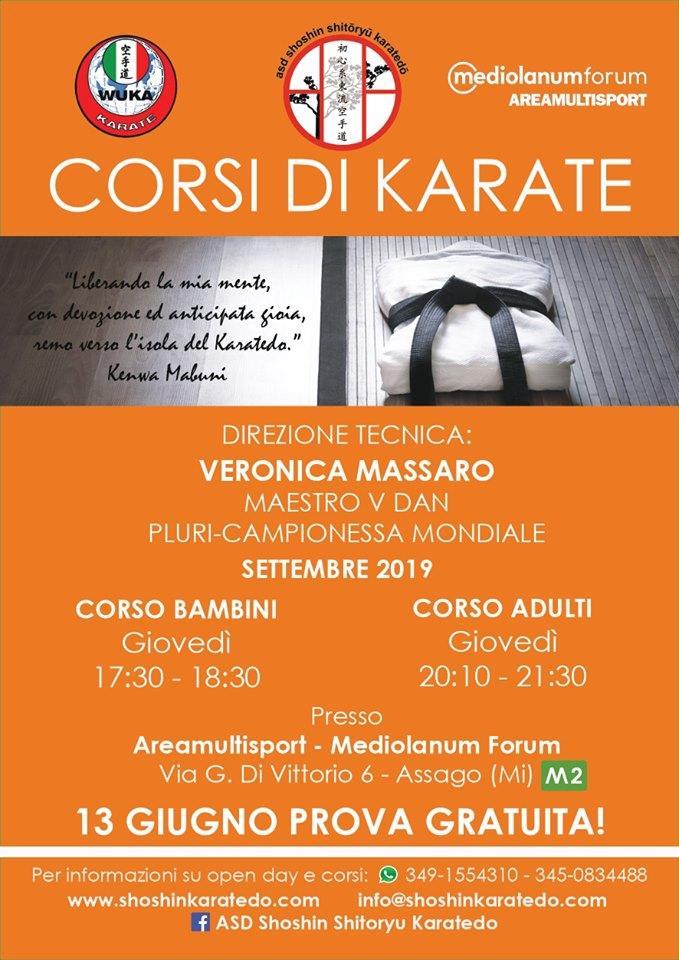 Karate: Lezione gratuita con Veronica Massaro @ ASSAGO (MI)