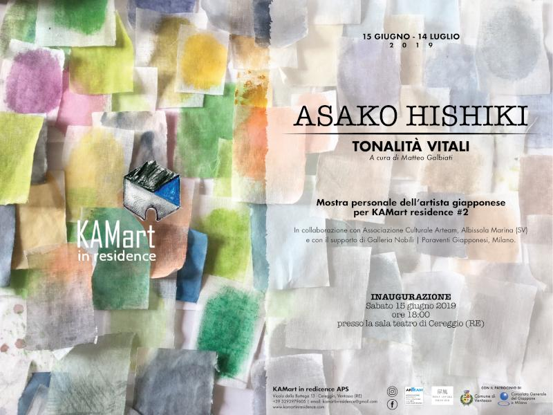"""Mostra personale di Asako Hishiki """"Tonalità vitali"""" @ Cereggio (RE)"""