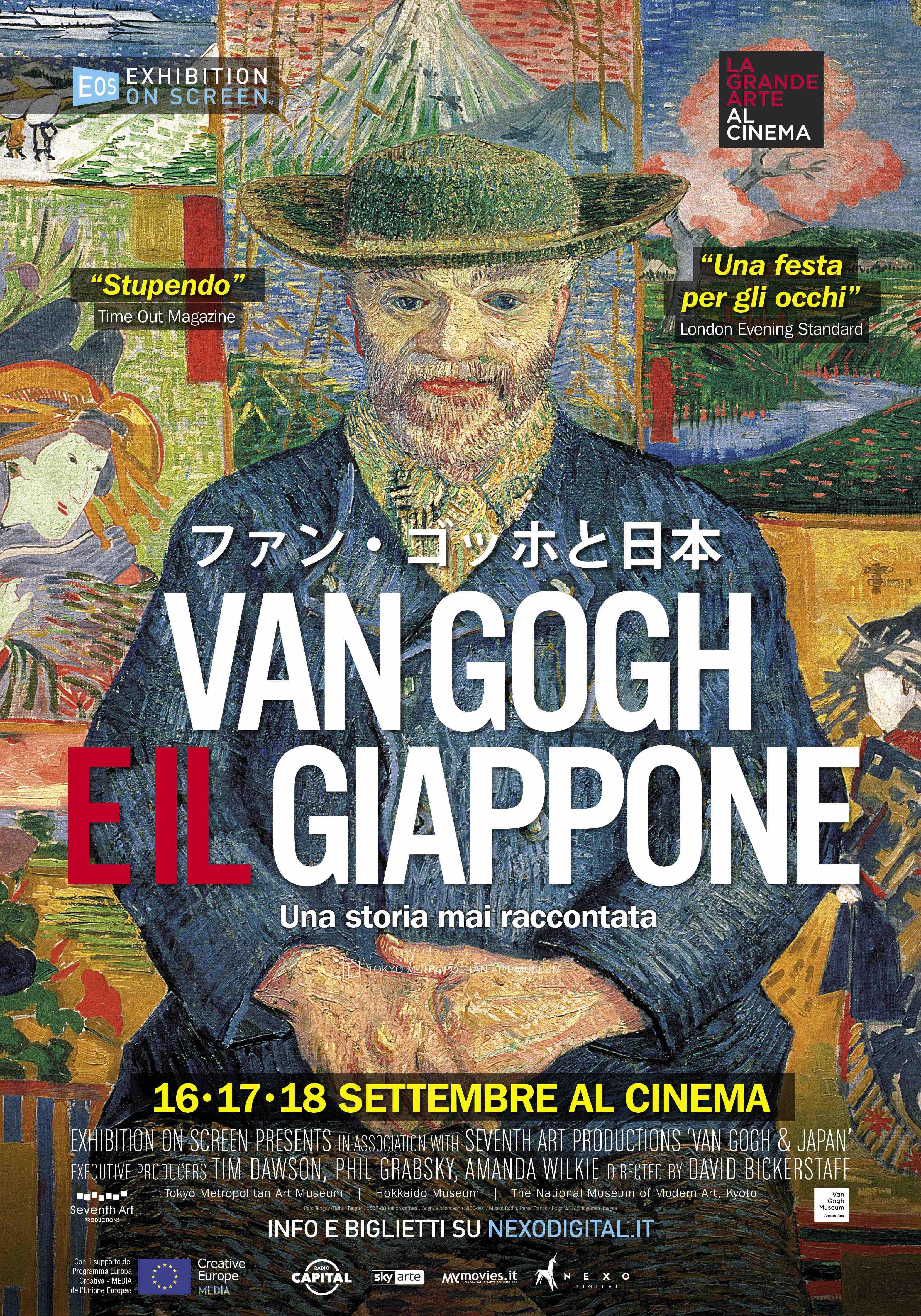 Locandina Van Gogh e il giappone documentario al cinema