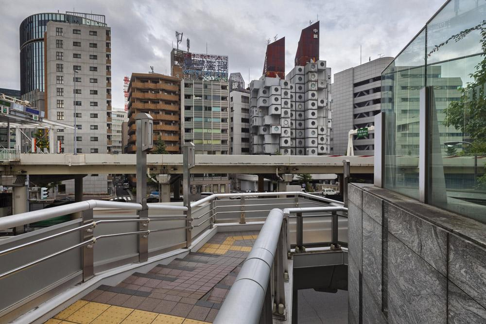 Nakagin capsule tower vista da shimbashi