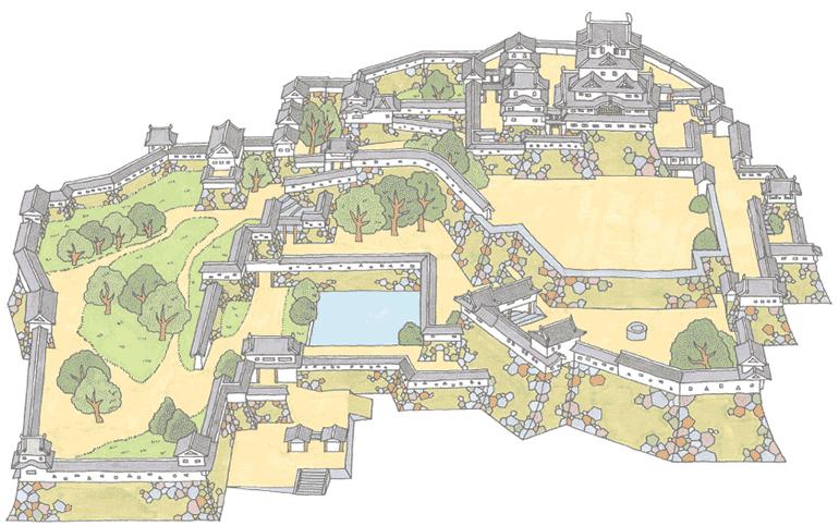 mappa castello himeji