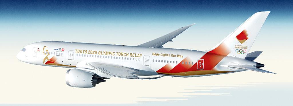 aereo fiamma olimpica con la speciale livrea