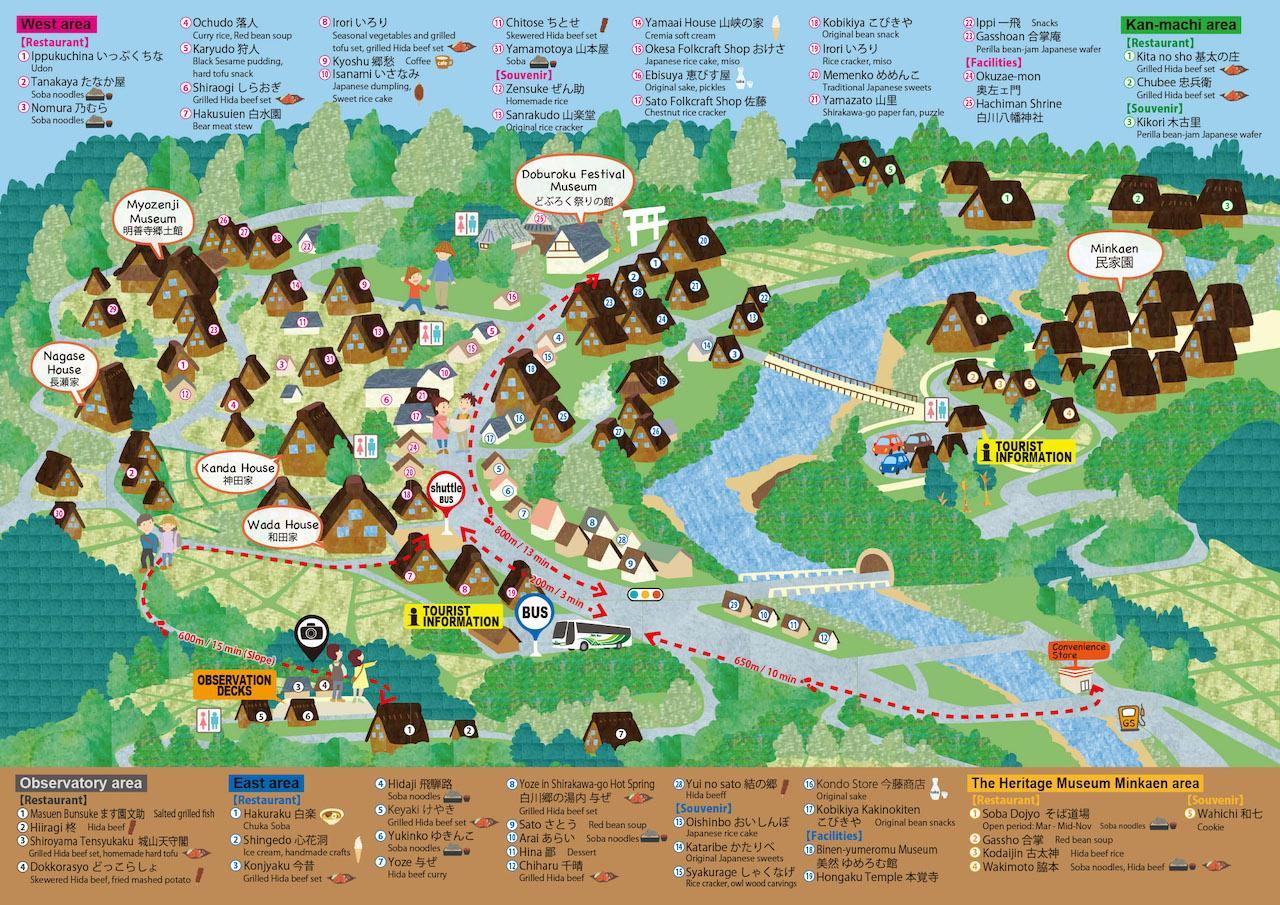 Mappa shirakawa-go