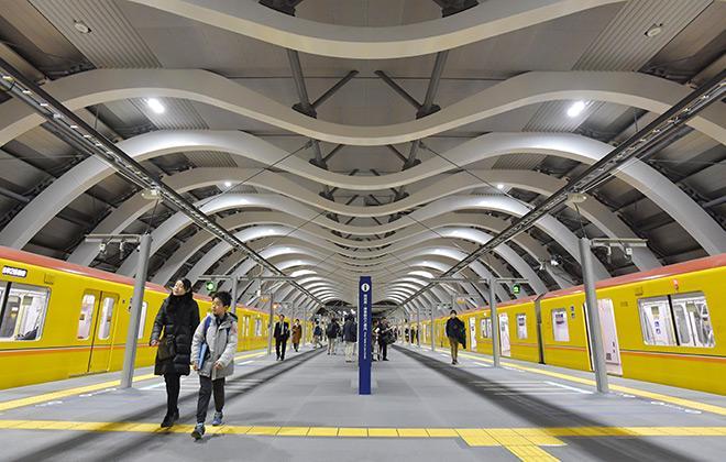 nuova stazione shibuya metropolitana ginza line